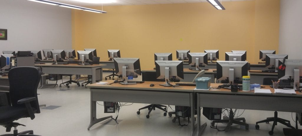 Small computer lab in the BT Testing Center