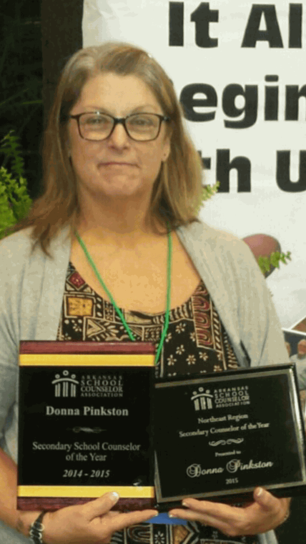 Concurrent Instructor named Secondary School Counselor of the Year
