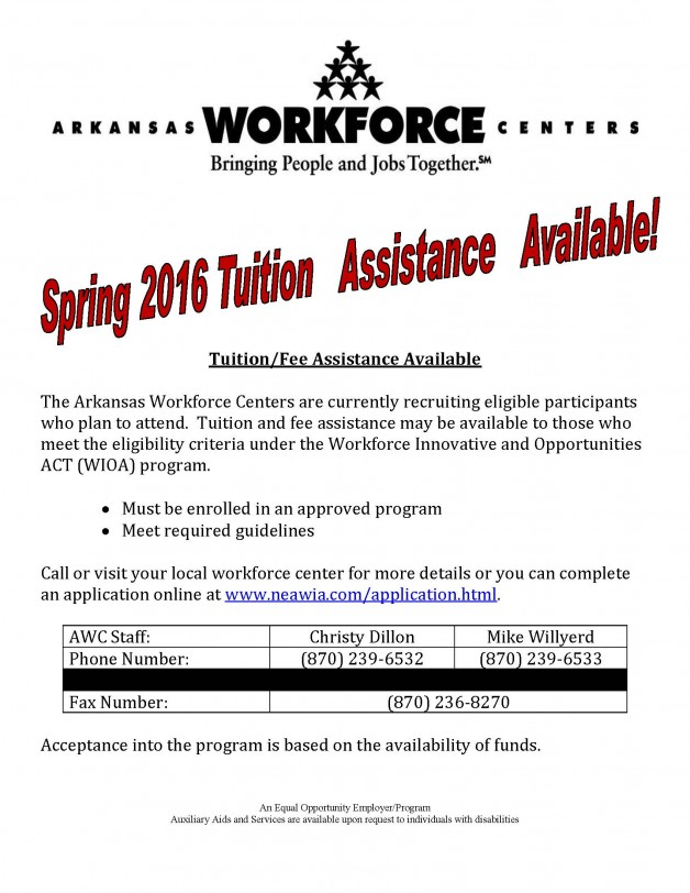 Spring 2016 Tuition Assistance
