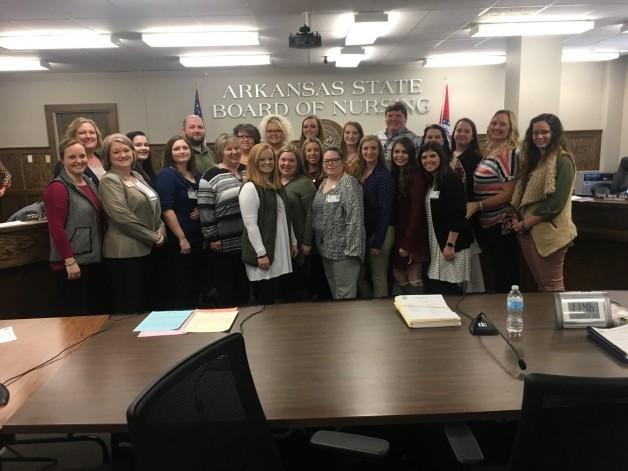 BRTC Nursing Students Witness Hearing at Arkansas State Board of Nursing