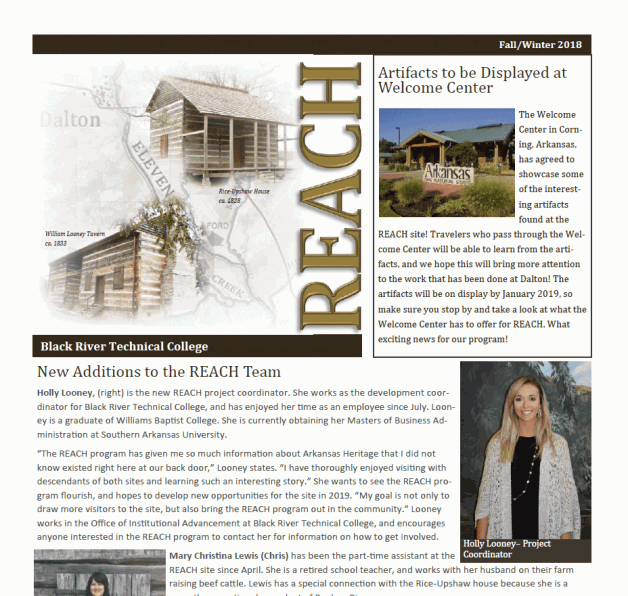 REACH Fall/Winter 2018 Newsletter Is Now Available!