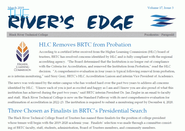 The River's Edge: Volume 17, Issue 3