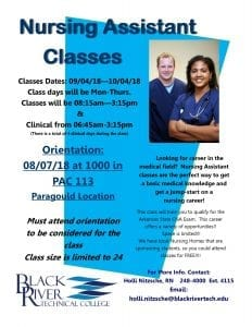 18Poster For CNA Classes Paragould