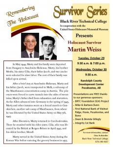 Holocaust flyer 2013 - Martin Weiss