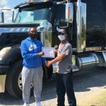 Anthonly Knight with CDL Certificate