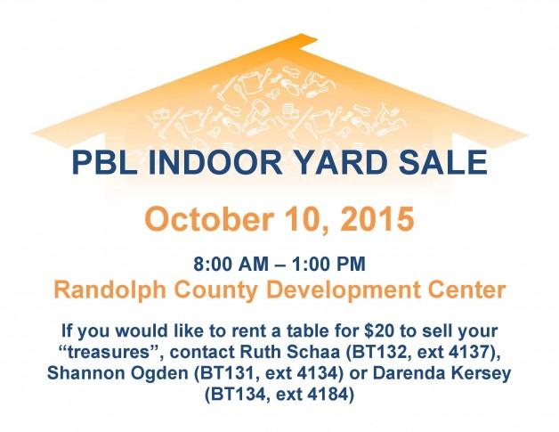 PBL Indoor Yard Sale