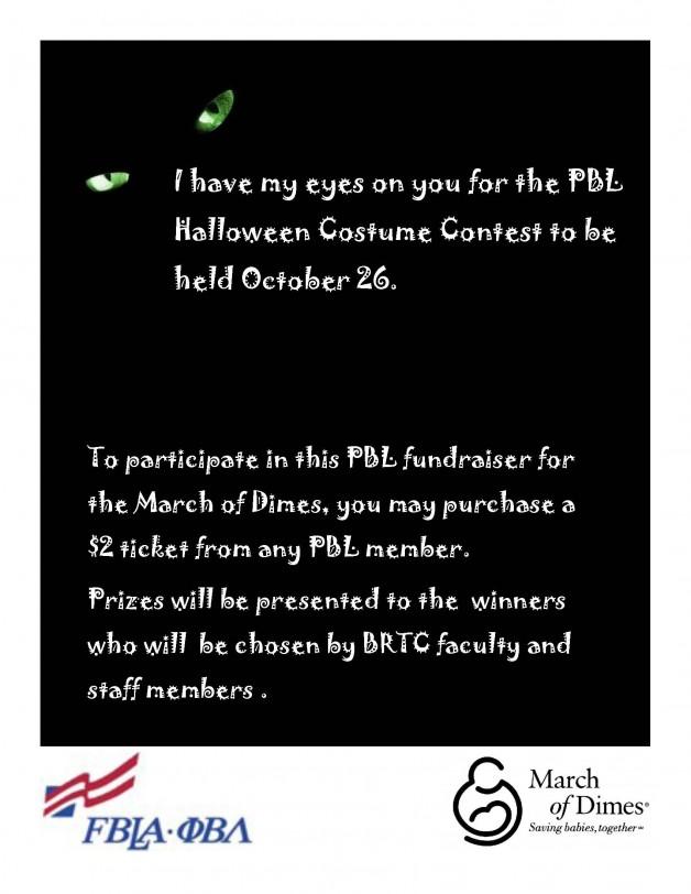 PBL Halloween Costume Contest