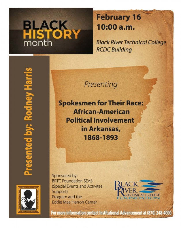 Spokesmen for Their Race: African-American Political Involvement in Arkansas, 1868-1893