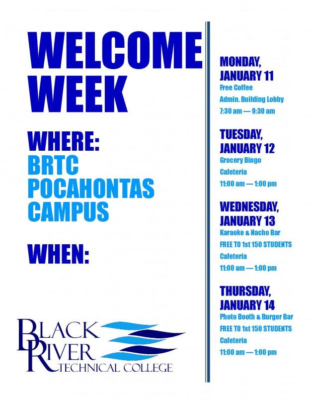 Welcome Week Activities