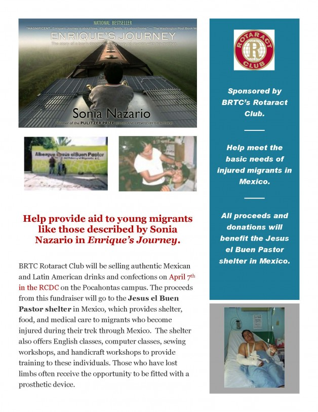 Rotaract Raise Funds to Help Injured Migrants in Mexico