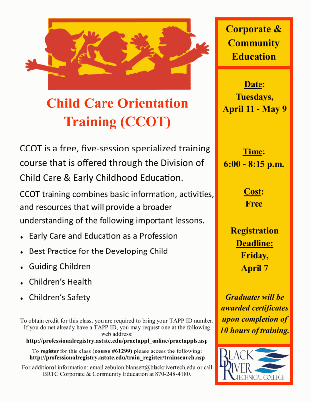Child Care Orientation Training (CCOT)