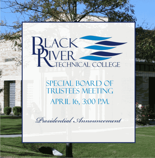 Special BRTC Board of Trustees Meeting Will Announce New President