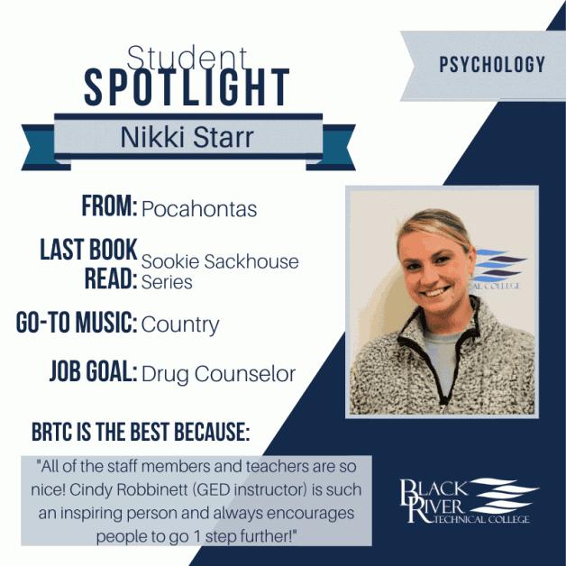 BRTC Student Spotlight — Nikki Starr