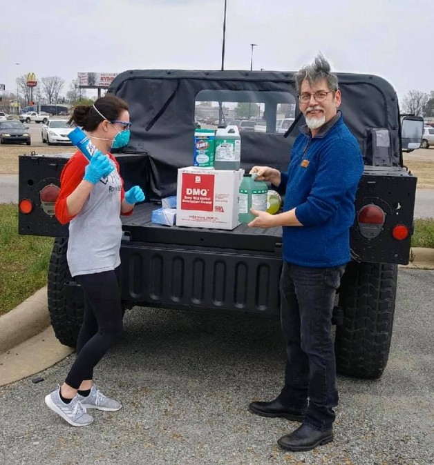 BRTC Donates Cleaning Supplies to Pocahontas Medical Clinic