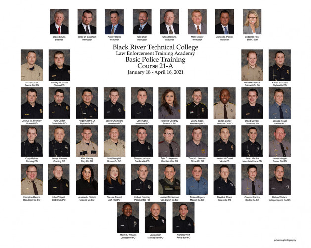 Top Cadets Honored at BRTC's Law Enforcement Training Academy Graduation