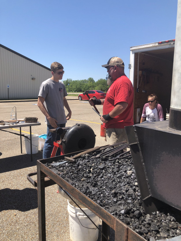 BRTC Paragould Hosts Blacksmithing Demonstration