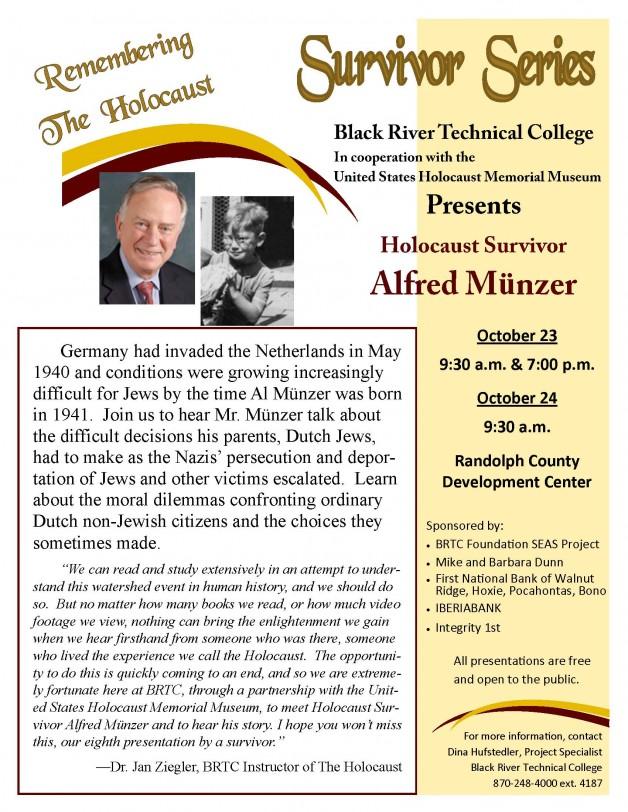 BRTC presents Holocaust Survivor Alfred Münzer